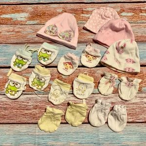 Baby Hats and Scratch Mittens Hand Covers
